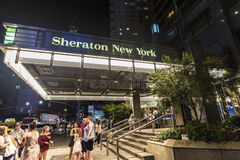 Sheraton New York Times Square hotell i New York, USA royaltyfria bilder