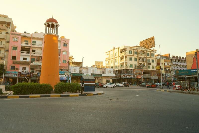 Sheraton ulica w Hurghada zdjęcie royalty free