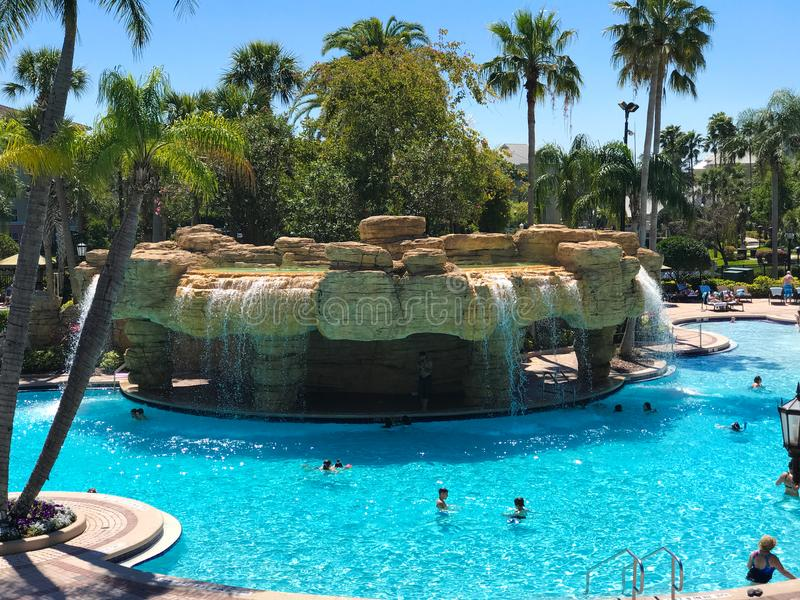 Sheraton Vistana Villages Pool, Orlando, Florida royalty-vrije stock fotografie