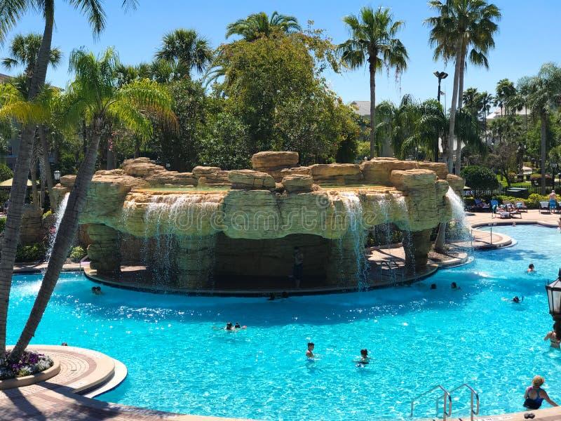Sheraton Vistana Villages Pool, Orlando, Florida. The Sheraton Vistana Villages in Orlando, Florida royalty free stock photography