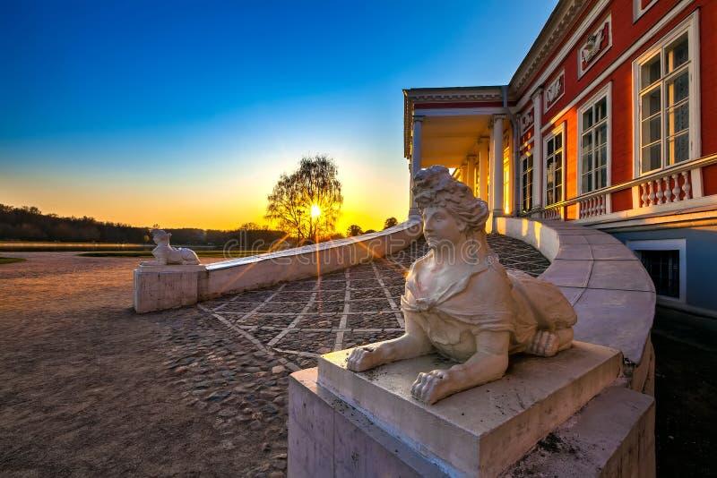Sheremetyev pałac, Kuskovo park, Moskwa, Rosja zdjęcie stock