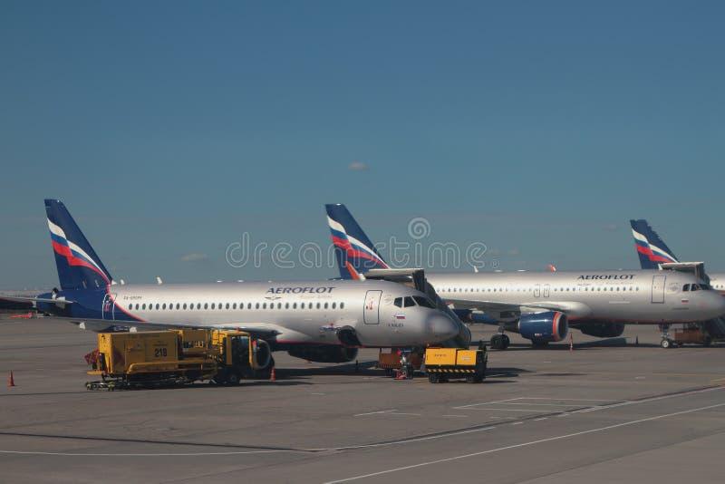 Sheremetyevo, Moskau, Russland - 14. September 2018: Fläche 'K Kuliyev 'auf Parken am Flughafen stockfoto