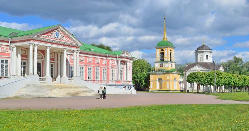 Sheremetyevpaleis in Kuskovo-Manor, Moskou, Rusland royalty-vrije stock fotografie