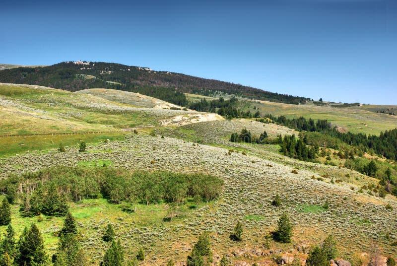 Sheridan Bighornberg historiskt ställe i Wyoming royaltyfri foto