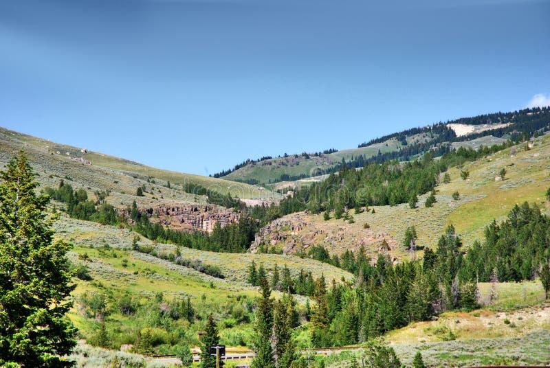 Sheridan Bighornberg historiskt ställe i Wyoming arkivfoto