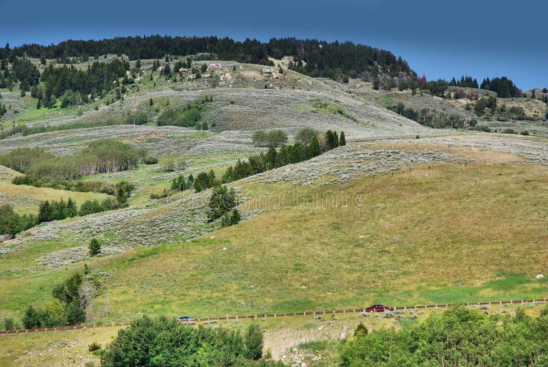 Sheridan, montañas del Bighorn lugar histórico en Wyoming imagenes de archivo