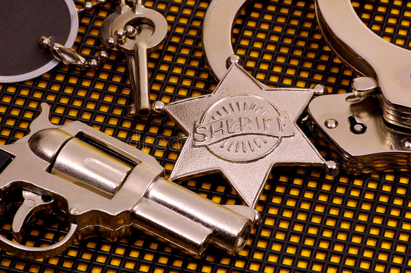 Sheriff royalty-vrije stock afbeelding