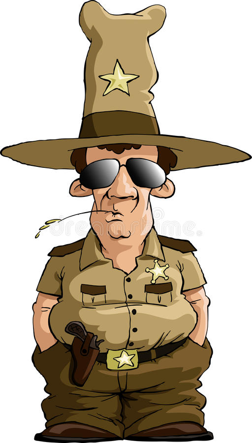 Sheriff. On a white background, vector stock illustration