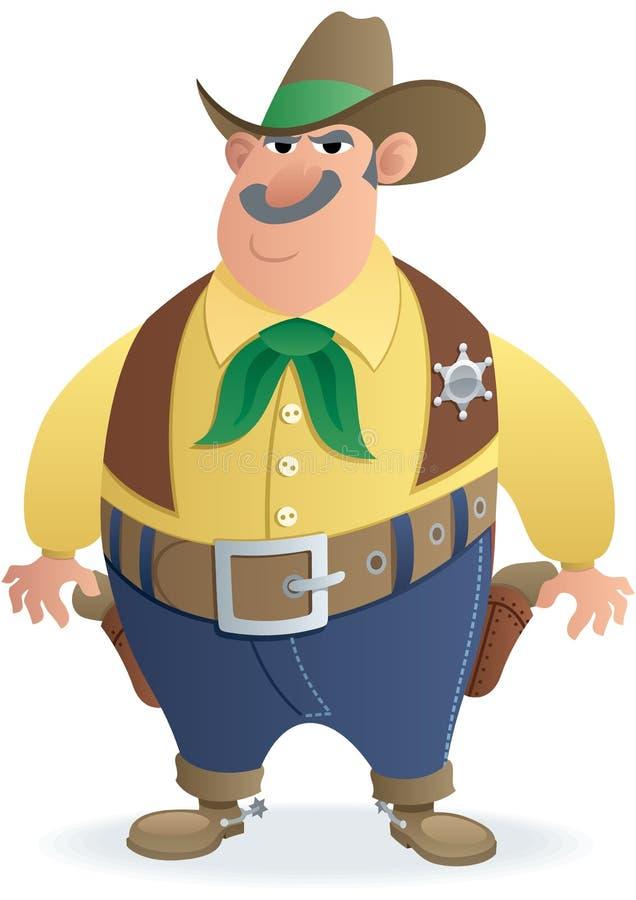 sheriff royaltyfri illustrationer