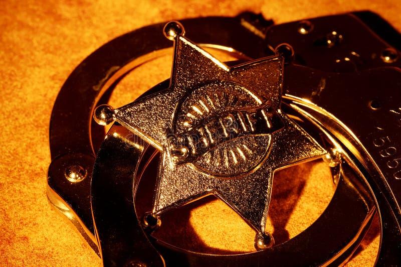 sheriff royaltyfria bilder