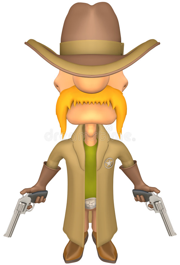 Download Sheriff stock illustration. Image of humor, cartoon, toon - 7742557