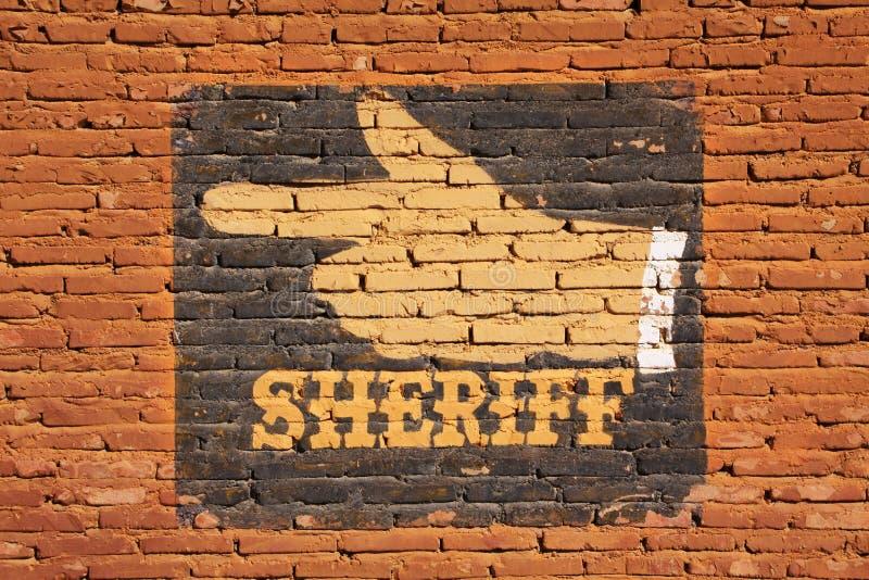 sheriff imagem de stock
