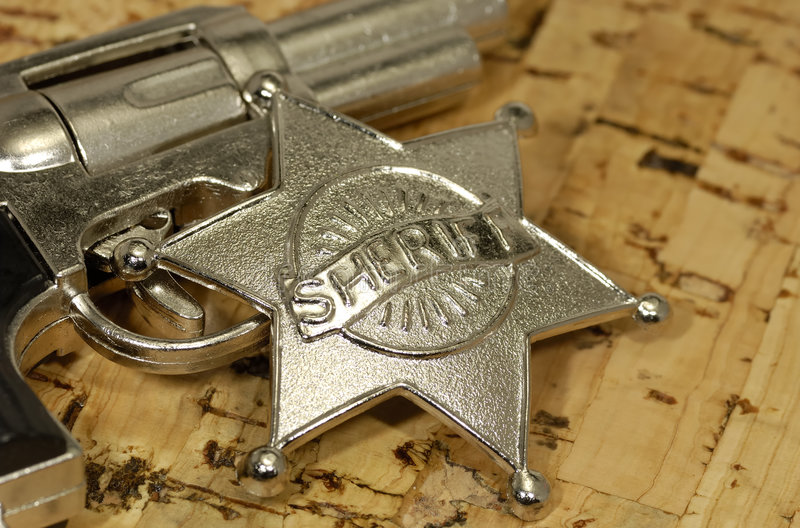 Sheriff royalty-vrije stock afbeeldingen