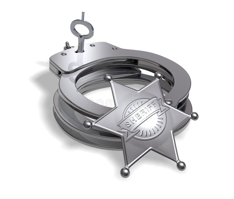 Sheriff Accessories royalty free illustration
