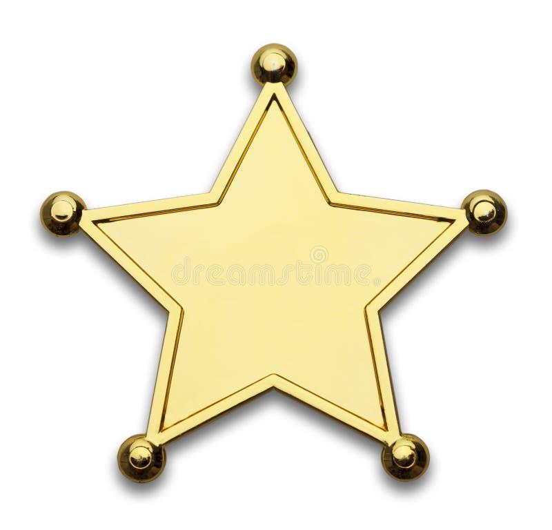 Sheriff Badge royaltyfri foto