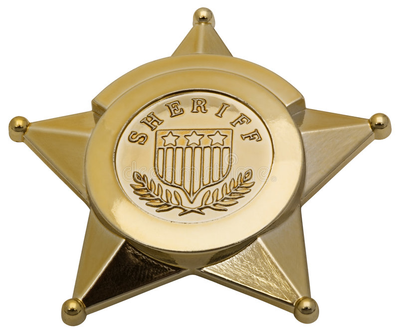 Download Sheriff Badge stock image. Image of police, isolated, close - 3446353