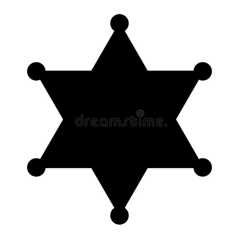 sheriff badge vector silhouette stock vector illustration of label rh dreamstime com florida sheriff badge vector sheriff badge vector free