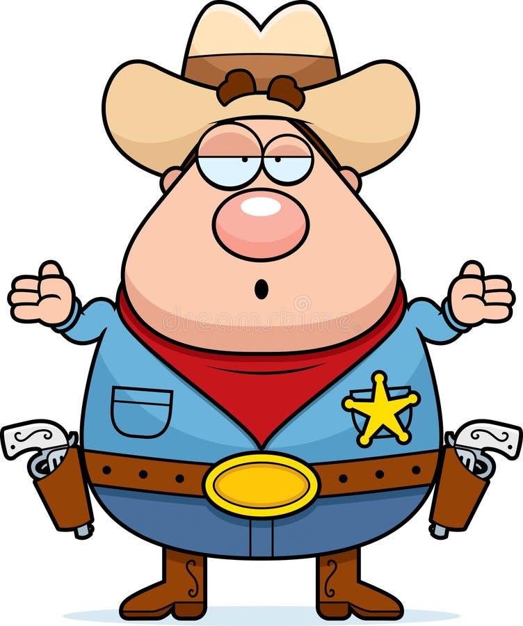 Sheriff confundido ilustración del vector