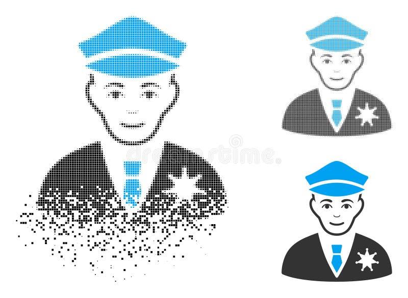 Sheriff de semitono hecho fragmentos Icon de Pixelated con la cara libre illustration