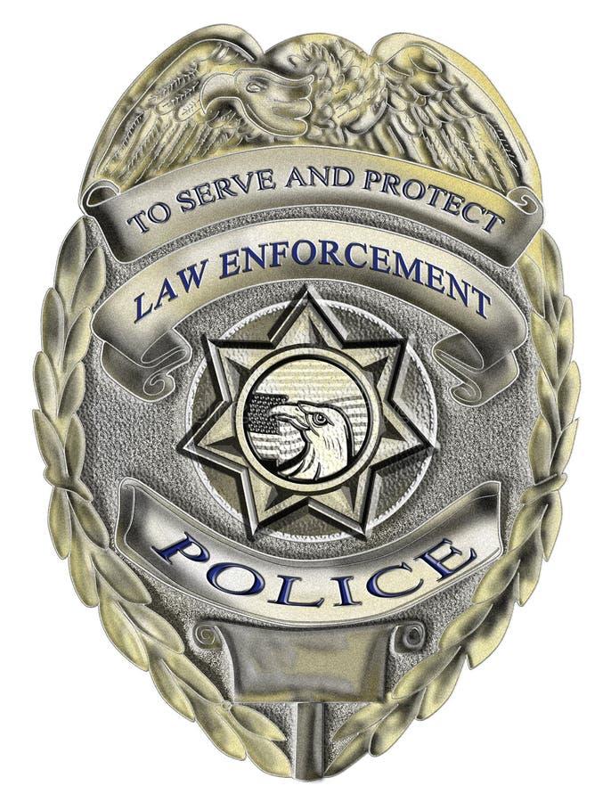 sheriff för polis för emblemframtvingandelag stock illustrationer