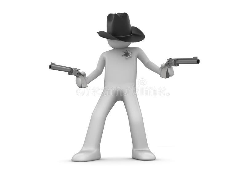 Download Sheriff on guard stock illustration. Illustration of cartoon - 13092266