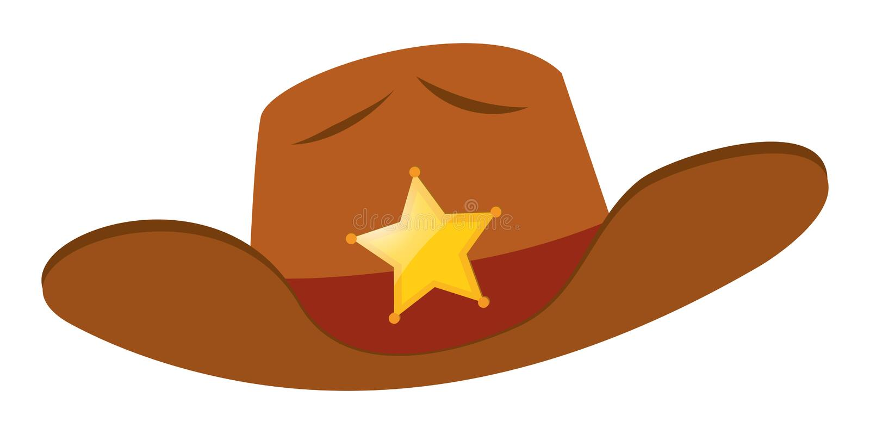 Sheriff hat with star badge. Illustration vector illustration