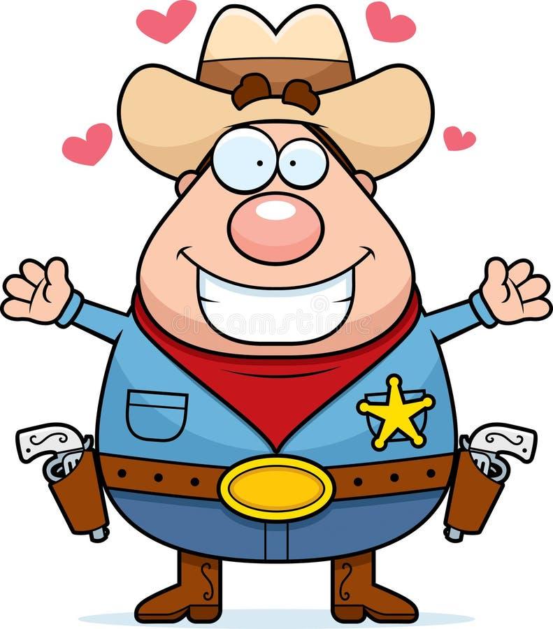Download Sheriff Hug stock vector. Illustration of smiling, love - 14264726