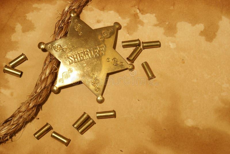 Sheriff i Town royaltyfria bilder