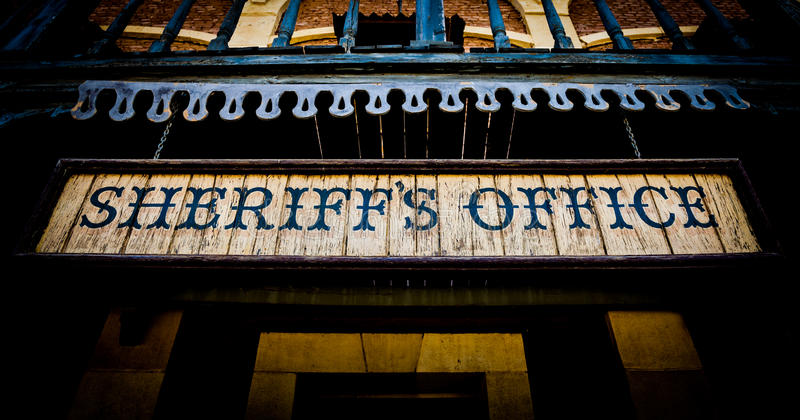 Sheriff Office stock foto's