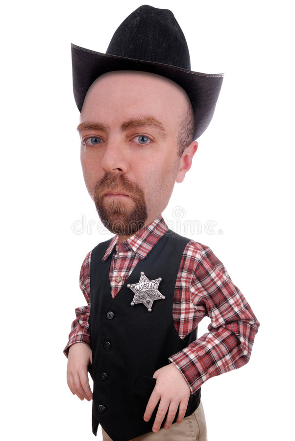 Sheriff que desgasta una divisa de los mariscales imagen de archivo