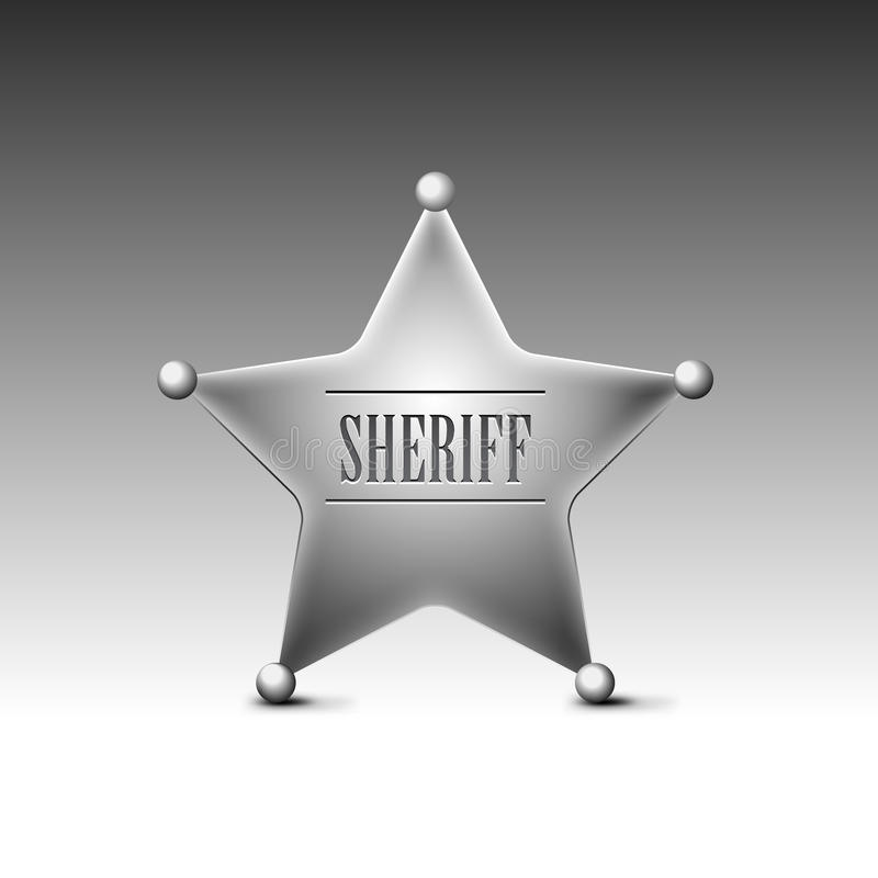 Download Sheriff's badge stock vector. Image of object, america - 23147452