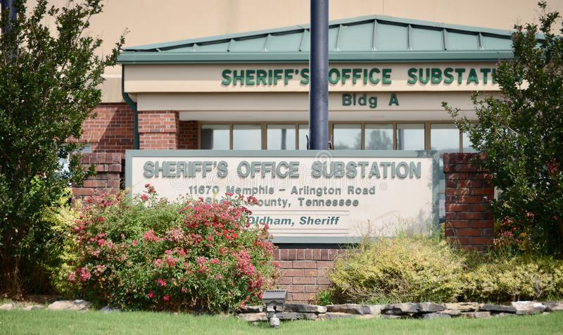 Sheriff`s Office Substation, Arlington, TN stock photos