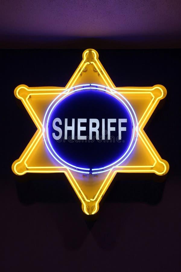 Sheriff sign stock photos