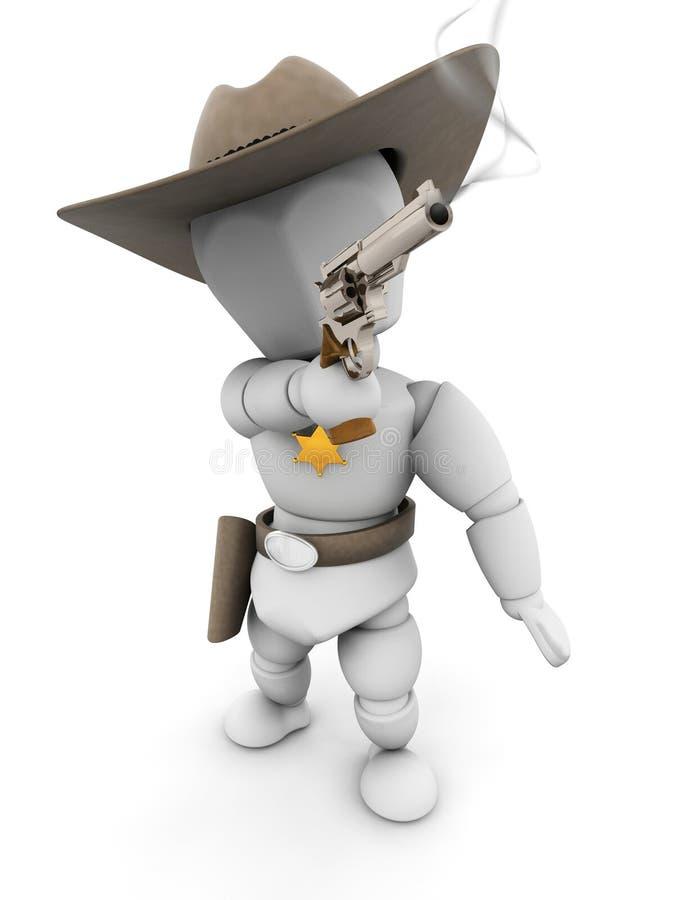 Download Sheriff With Smoking Gun Royalty Free Stock Images - Image: 5371469