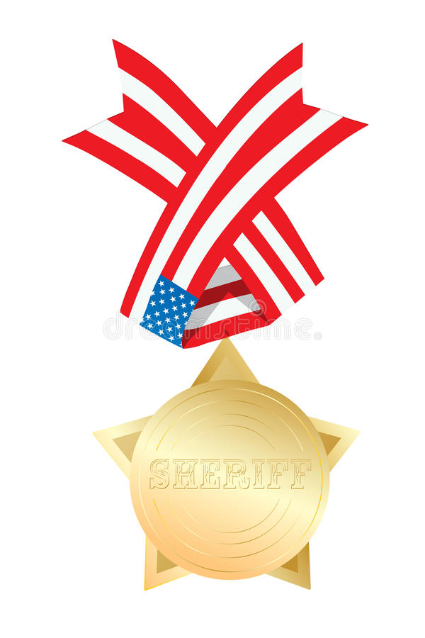 Download Sheriff star stock vector. Image of prize, shine, golden - 27694287