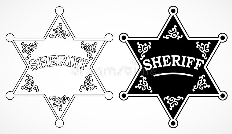 Sheriff Stars Stock Illustration. Illustration Of