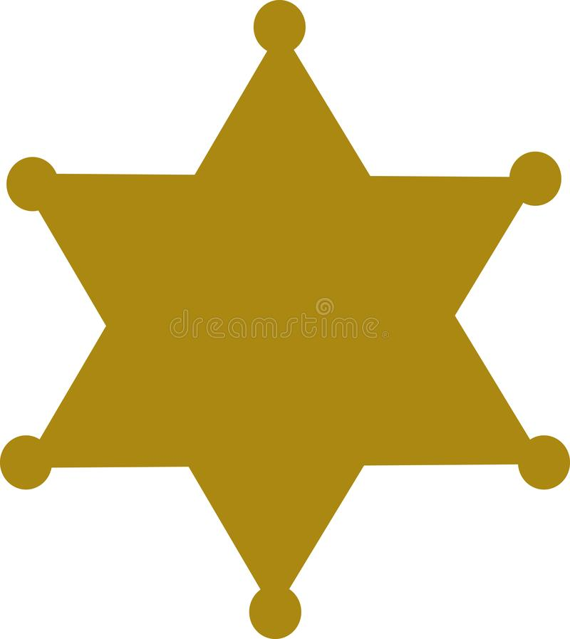 Sheriffausweisstern stock abbildung