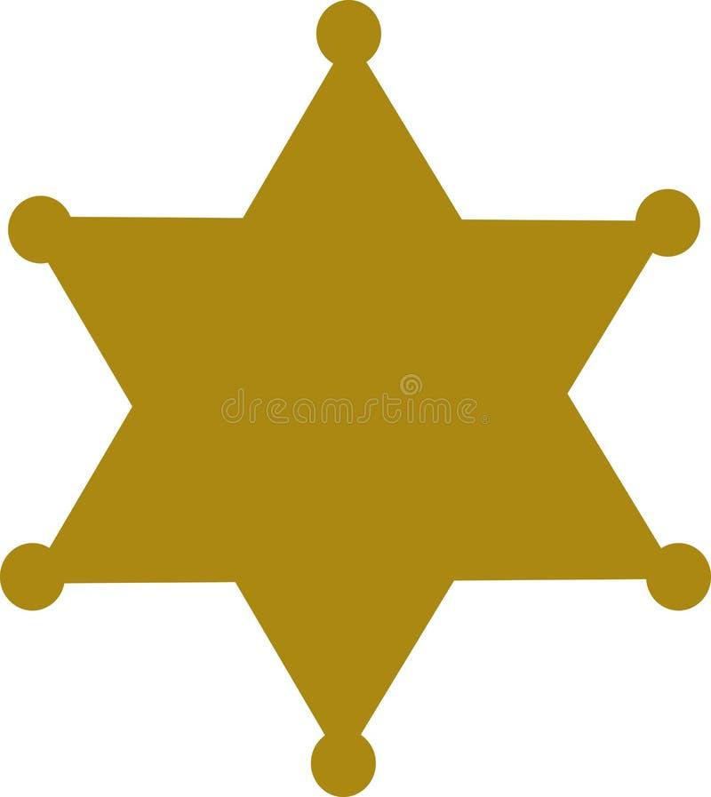 Sheriffemblemstjärna stock illustrationer