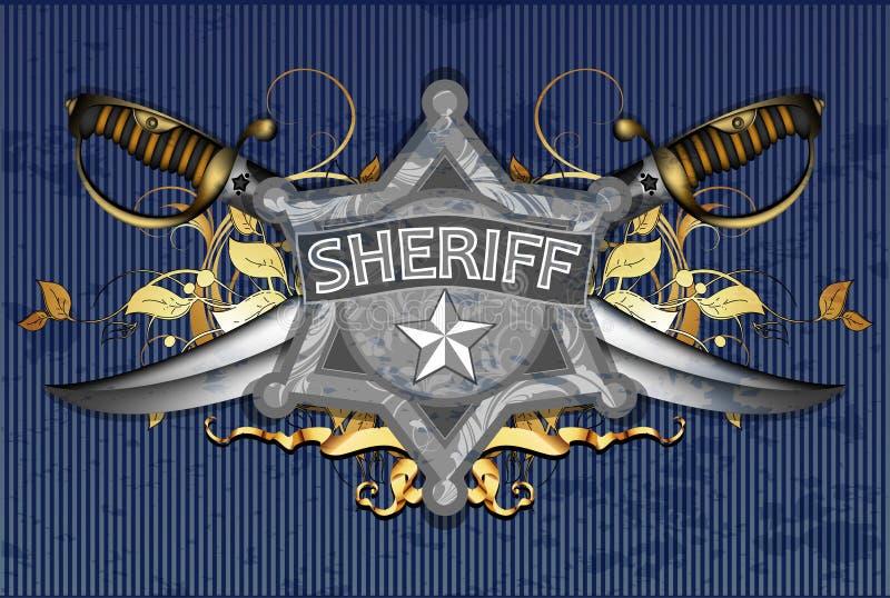 Sheriffster met sabels vector illustratie