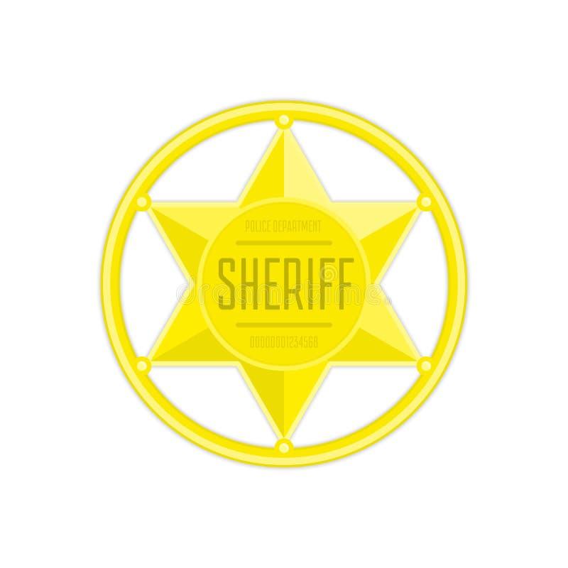 Sheriffstjärnavektor stock illustrationer