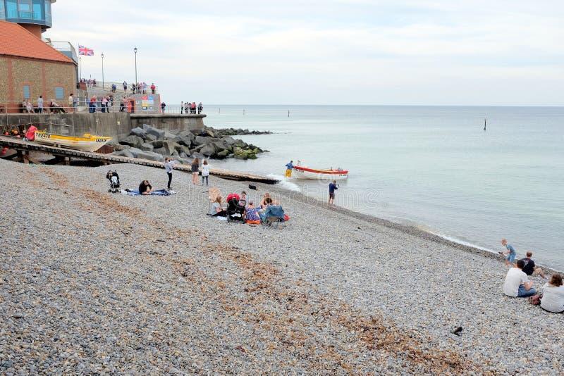 Sheringham beach, Norfolk. royalty free stock photos