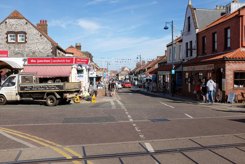 Sheringham town, Norfolk. stock image