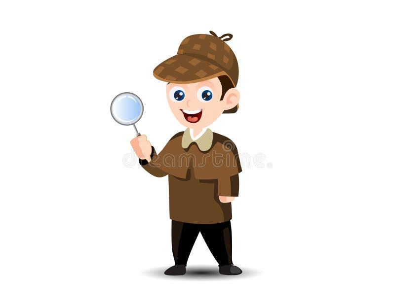 Sherlock探员吉祥人 向量例证