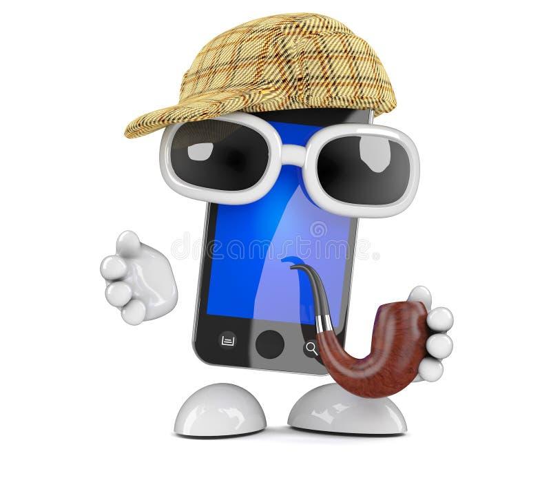 Sherlock智能手机 皇族释放例证