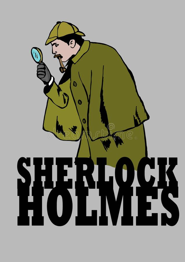 Sherlock调查 库存例证