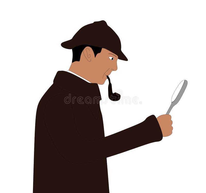 Sherlock de detective royalty-vrije stock afbeeldingen
