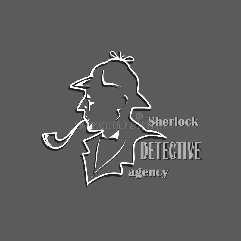 sherlock Detectiveagentschap royalty-vrije illustratie