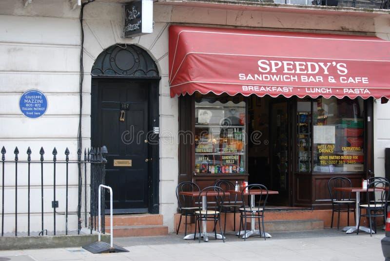 Sherlock geplaatst het Noorden Grover Street stock foto's