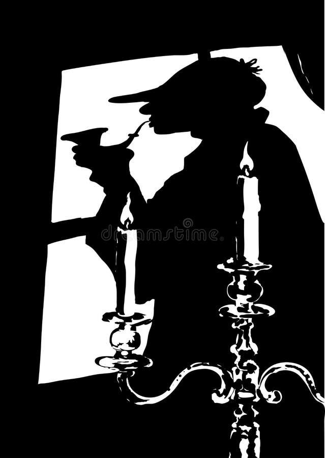 Sherlock Holmes illustration stock