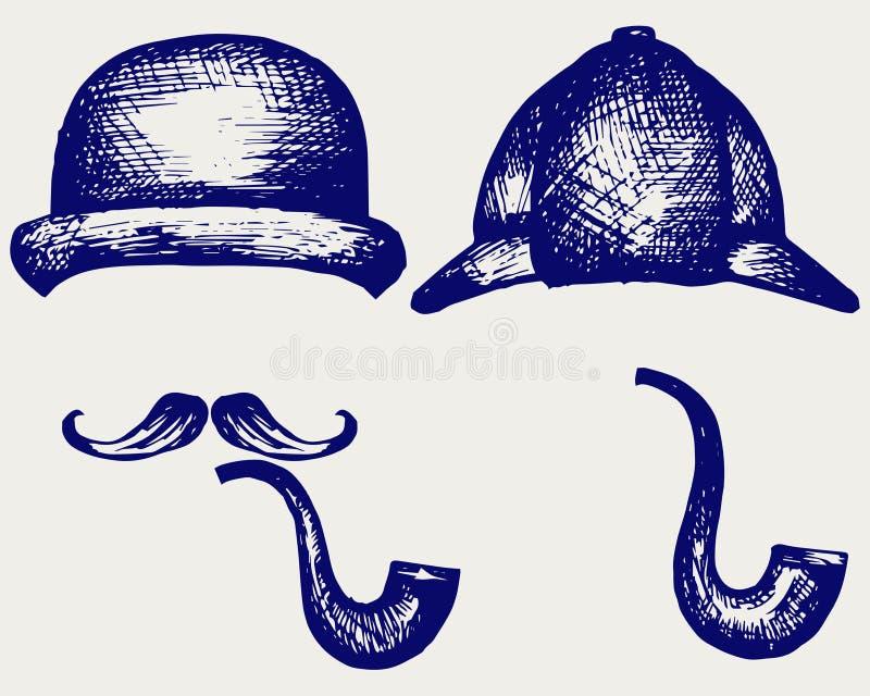 Sherlock Holmes illustration libre de droits